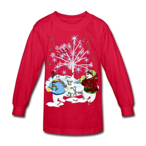 Two Snowmen - Kids' Long Sleeve T-Shirt