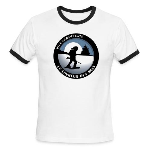 Ringer Coureur Des Bois Logo Homme - T-shirt à bords contrastants pour hommes American Apparel