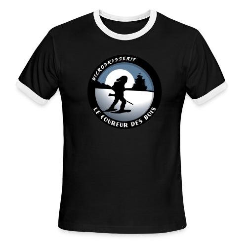 Ringer Inversé Coureur Des Bois Logo Homme - T-shirt à bords contrastants pour hommes American Apparel