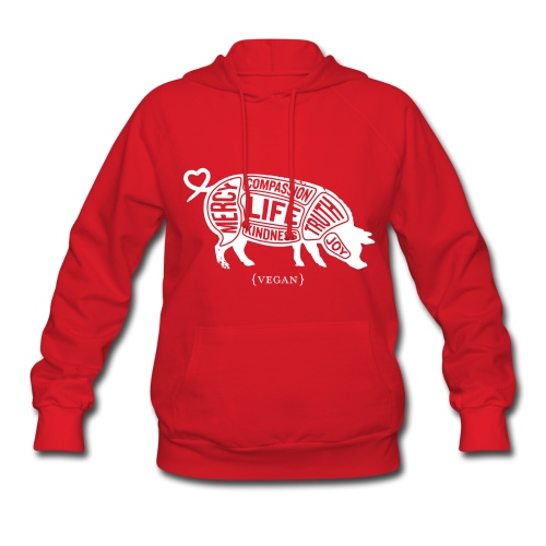 Words to Live By (Pig) - Women's Sweatshirt w/White - Women's Hoodie