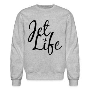 Jet Life (Black) Crewneck - Crewneck Sweatshirt
