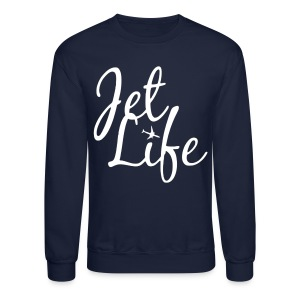 Jet Life (White) Crewneck - Crewneck Sweatshirt