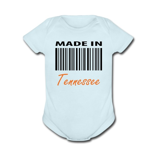 MADE IN TENNESSEE - Organic Short Sleeve Baby Bodysuit