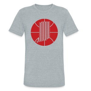 CANDY STRIPES - Unisex Tri-Blend T-Shirt by American Apparel