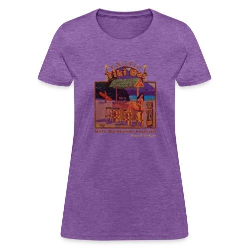 Classic Hawaiian Hand Made T-shirt Surfing Design - Women's T-Shirt