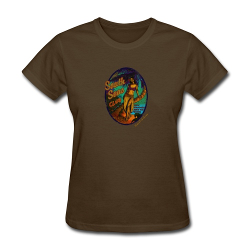 Classic Hawaiian Hand Made T-shirt Surfing Design - Women's T-Shirt