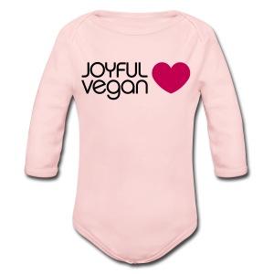 Joyful Vegan   - Long Sleeve Baby Bodysuit