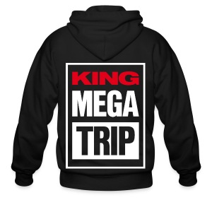 King Megatrip VSW Logo (Dark) - Men's Zip Hoodie