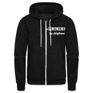 Unisex Made Zip Up - Unisex Fleece Zip Hoodie by American Apparel