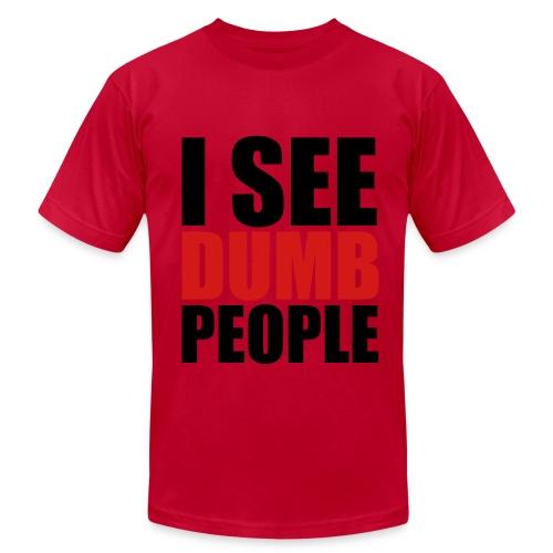 Dumb people - Men's Fine Jersey T-Shirt