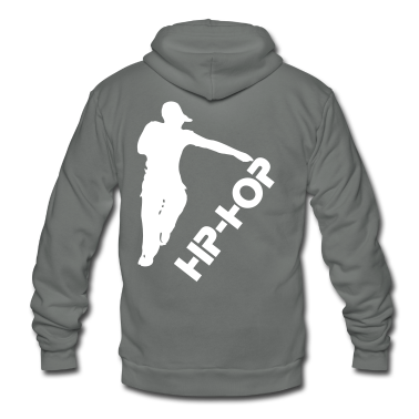 BBOY HIPHOP MUSIC DANCE Unisex Fleece Zip Hoodie by American Apparel