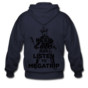 Keep Calm Listen to Megatrip (Light) - Men's Zip Hoodie