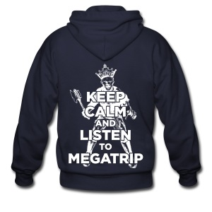 Keep Calm Listen to Megatrip (Dark) - Men's Zip Hoodie