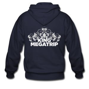KMT - Ornate Leaves 02 (Dark) - Men's Zip Hoodie