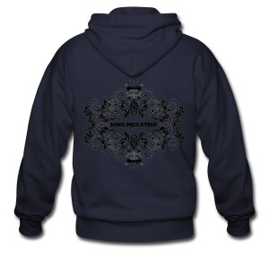 KMT Ornate Leaves 01 (Light) - Men's Zip Hoodie