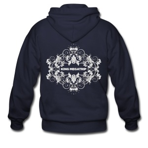 KMT Ornate Leaves 01 (Dark) - Men's Zip Hoodie