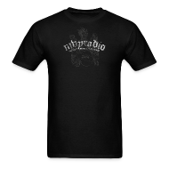 T-Shirts ~ Men's T-Shirt ~ mvyradio Heraldic logo w/ lobster on shield (with French