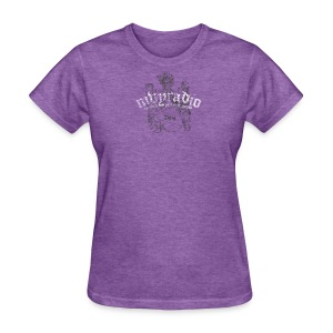 mvyradio Heraldic logo w/ lobster on shield (with French et le monde) - Women's T-Shirt