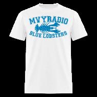 T-Shirts ~ Men's T-Shirt ~ mvyradio blue lobsters
