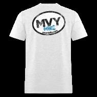 T-Shirts ~ Men's T-Shirt ~ mvyradio giant euro sticker (on back)