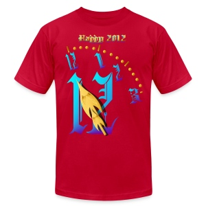 Happy  2012-Clock Striking  Midnight - Men's T-Shirt by American Apparel