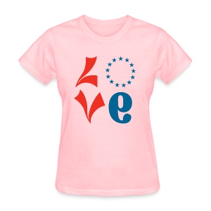 Womens Pink Love Shirt - V2 - Women's T-Shirt