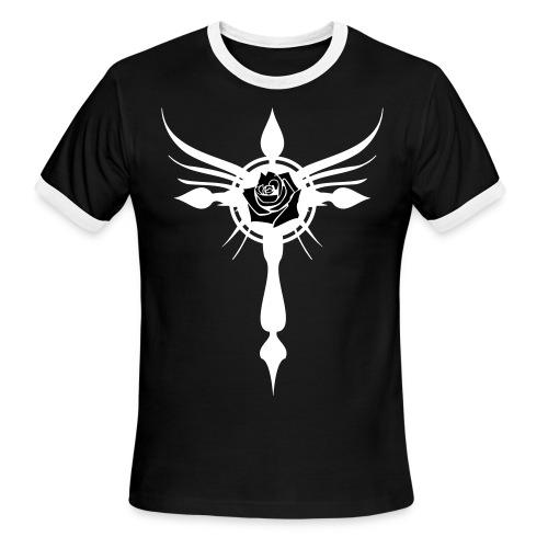 The Rose Inside the Cross - Men's Ringer T-Shirt