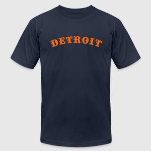 Detroit Baseball - Men's T-Shirt by American Apparel