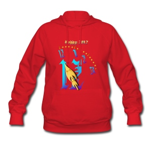 Happy  2012-Clock Striking  Midnight - Women's Hoodie