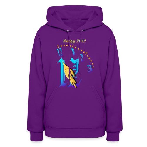 Happy  2012-Clock Striking  Midnight - Women's Hoodie