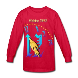 Happy  2012-Clock Striking  Midnight - Kids' Long Sleeve T-Shirt