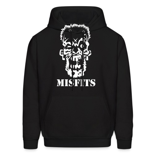 MISFITS Male Black Hoody - Men's Hoodie