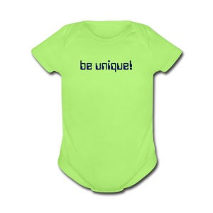 Baby Be Unique Short Sleeve One Piece - Short Sleeve Baby Bodysuit