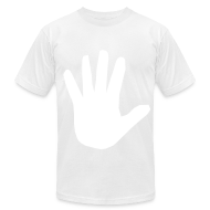 T-Shirts ~ Men's T-Shirt by American Apparel ~ Men's Hidden Hand Flex Print Street Style T-shirt