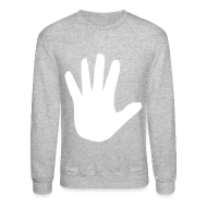 Long Sleeve Shirts ~ Crewneck Sweatshirt ~ Men's Hidden Hand Flex Print Street Style Jumper