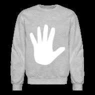 Long Sleeve Shirts ~ Crewneck Sweatshirt ~ Men's Hidden Hand Flex Print Street Style Jumper