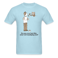 T-Shirts ~ Men's T-Shirt ~ Kitty Judgement