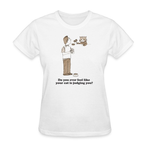 Kitty Judgement White - Women's T-Shirt