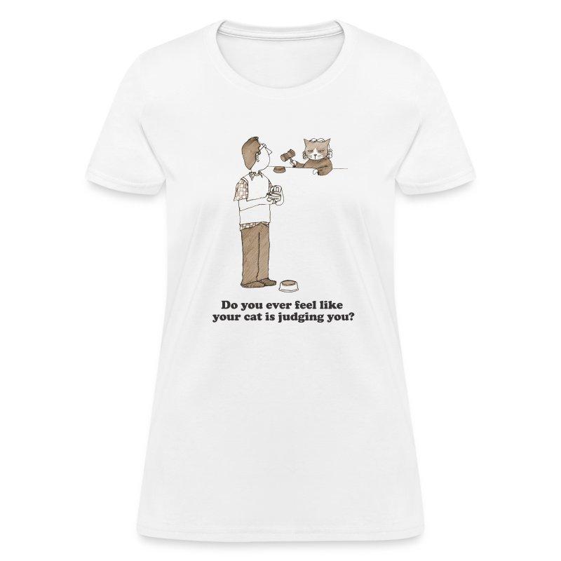 Kitty Judgement White - Women's T-Shirt