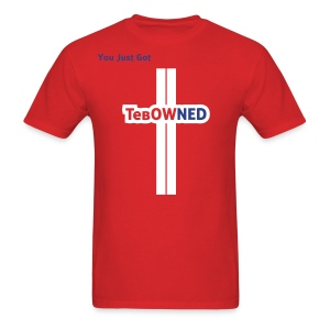 Tebow Tribute - TebOWNED Crucifix - Mens T-Shirt - Men's T-Shirt