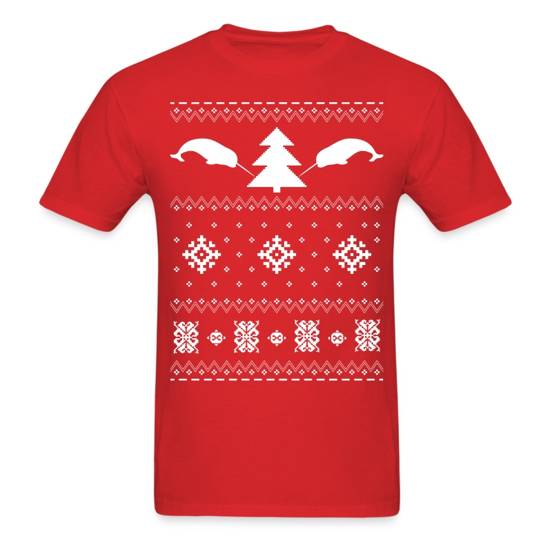 Narwhal Christmas Sweater T-Shirt | Narwhalish T-shirts & More