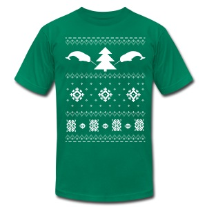 Narwhal Christmas Sweater - Men's Fine Jersey T-Shirt
