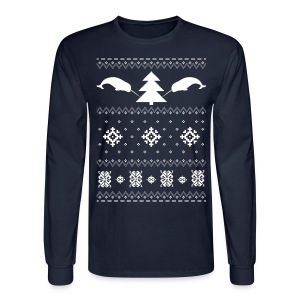Narwhal Christmas Sweater - Men's Long Sleeve T-Shirt