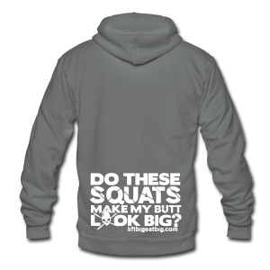 Do these squats make my butt look big? - Unisex Fleece Zip Hoodie by American Apparel