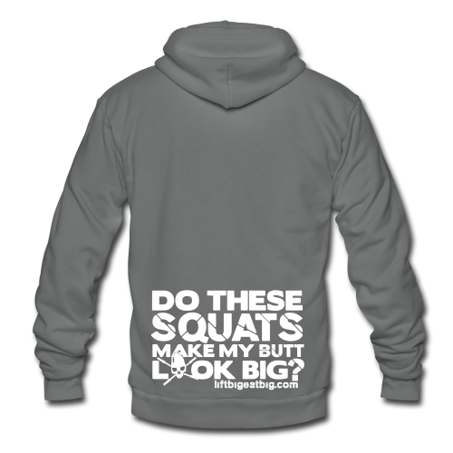 Do these squats make my butt look big? - Unisex Fleece Zip Hoodie