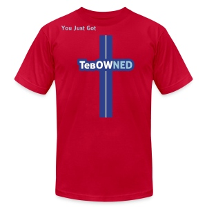 Tebow Tribute - TebOWNED Crucifix - Mens T-Shirt - Men's T-Shirt by American Apparel