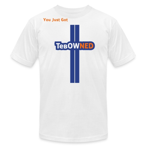 Tebow Tribute - TebOWNED Crucifix - Mens T-Shirt - Men's Fine Jersey T-Shirt