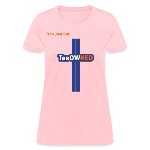 Tebow Tribute - TebOWNED Crucifix - Womens T-Shirt - Women's T-Shirt