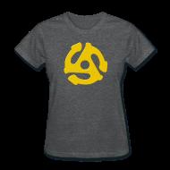 T-Shirts ~ Women's T-Shirt ~ Megatrip Industries 45 RPM