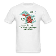 T-Shirts ~ Men's T-Shirt ~ The World According to Michigan